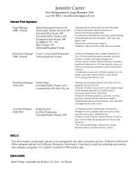 Stage Manager Resume Template Bcom Regular Resume Diploma Electrical Engg Resume Printable