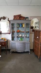 vintage shabby chic french provincial hutch pantry china cabinet