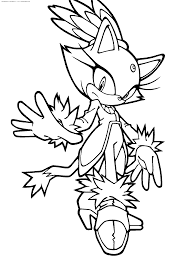tails the fox coloring pages