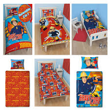 Fireman Sam Bedroom Furniture by Fireman Sam Duvet Cover Sets In Single Double And Junior Sizes
