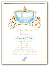 bridal shower invitations bridal shower invitations cinderella