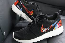 okc thunder nike roshe run black custom