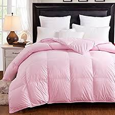light pink down comforter amazon com spring light weight 15 85 white goose down comforter