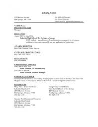 Job Resume Examples For Highschool Students by Resume Templates For Cooks Resume For Your Job Application