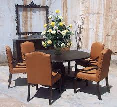 Round Dining Sets Old World Style Dining Sets Tables Chairs Buffets
