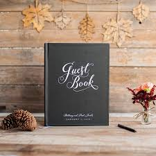 black wedding guest book wedding guest book wedding guestbook custom guest book