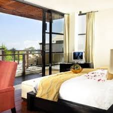 Curtains For Big Sliding Doors Bedroom White Bed White Curtain Big Glass Windows Wooden Floor