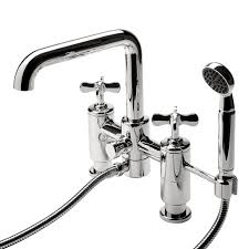 discover ludlow deck mounted exposed tub filler with handshower