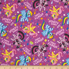 my little pony home decor hasbro my little pony flannel party ponies purple discount