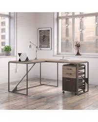 industrial desk l amazing shopping savings bush furniture refinery 50w l shaped
