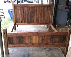 rustic wood king bed frame frame decorations