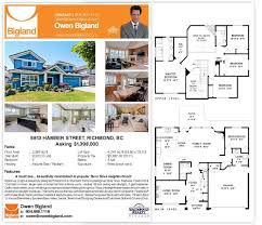 Real Estate Marketing Floor Plans by Owen Bigland Richmond Real Estate My Marketing Strategy