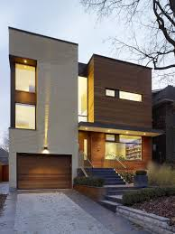 modern house architecture front view hybrid family home mixes