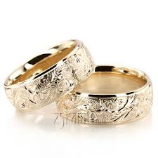 floral wedding band wedding band sets his and hers wedding bands matching wedding