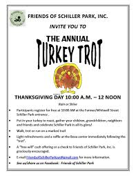 getting to turkey trot time come friends of schiller