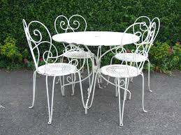 outdoor iron table and chairs white wrought iron furniture white wrought iron patio furniture