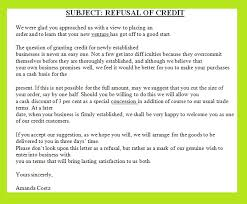 Rejecting Goods Letter letter refusing a request for credit innovative credit refusal