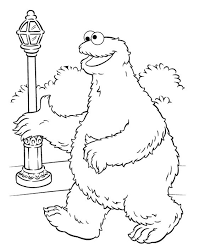cookie monster coloring pages sesame street coloringstar
