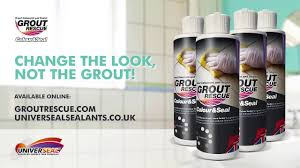 universeal grout rescue colour u0026 seal quick bathroom makeover
