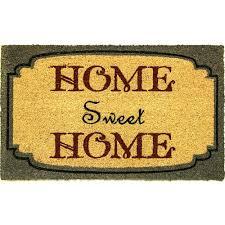 dynamic rugs aspen home sweet home blue ivory 18 in x 30 in door
