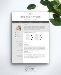Resume Pages Template Modern Resume Template For Word 1 2 Page By Landeddesignstudio