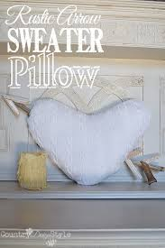 sweater pillow country design style