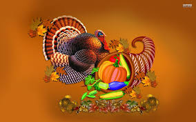 thanksgiving turkey and cornucopia walldevil