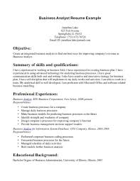 Banking Resume Objective Entry Level Entry Level Business Analyst Resume Objective Free Resume