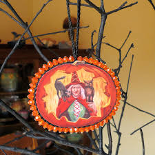 witch ornament craft this vintage look ornament with a