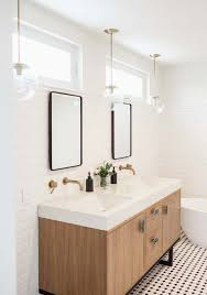 Wall Vanity Mirror With Lights Subway Walls Double Mirrors With Windows Above Contemporary