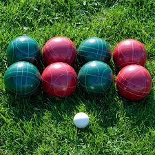 bocce ball set with carrying case various licenses full size