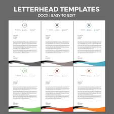 Free Business Letterhead Template Word by Free Corporate Business Letterhead Template