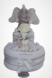 unisex new baby nappy cake with dumbo coochy coo nappy cakes