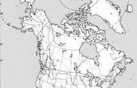 Blank Map Of Canada by World Regional Outline Maps