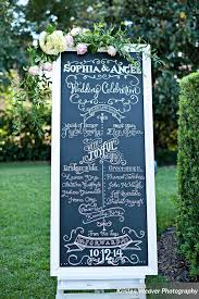 wedding program board kristen weaver photography chalk shop events casa feliz orlando