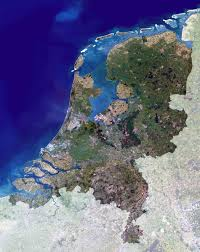 large satellite map of netherlands holland netherlands large