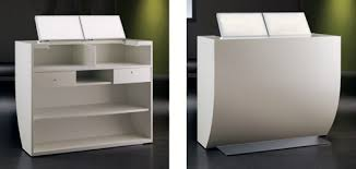 White Reception Desk Pod Reception Desk White With Chrome Base Design X Mfg Salon