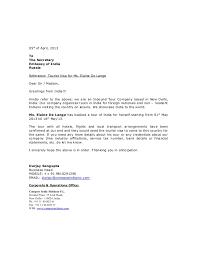 recommendation letter indian visa sample cover letter templates