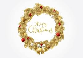 gold christmas christmas gold wreath vector free vector stock