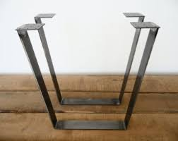 Bar Height Table Legs View Flat Steel Table Legs By Balasagun On Etsy