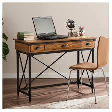 luthier 2 drawer industrial writing desk with keyboard tray