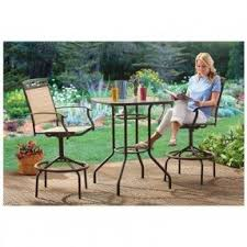 Bar Height Patio Set With Swivel Chairs Bar Height Patio Furniture Sets Foter