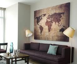 Xxl Wohnzimmer Tisch Xxl Bild 145x95x5 Loft Design Leinwand Weltkarte Braun Gemälde