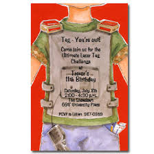 laser tag boy invitations paperstyle