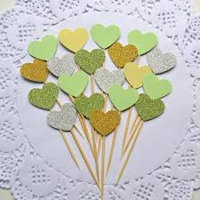 happy birthday party 10 pcs heart new cake topper supplies baby