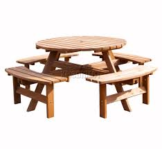 new 8 seater wooden pub bench round picnic beer table furniture