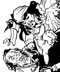 colorier un dessin du pirate des caraïbes