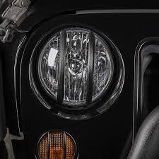 jeep angry headlights rugged ridge 11230 13 elite pivotal headlight euro guard blk 07