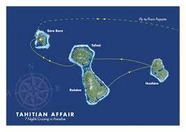 Tahiti Map World by Luxury Small Ship Cruising Tahiti Nui Travel