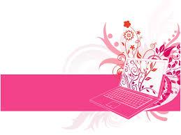 laptop floral design powerpoint templates laptop floral design